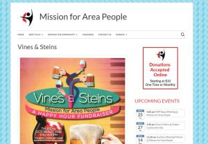 Mission for Area People website screenshot