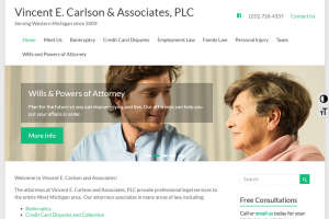 Vincent Carlson Law website
